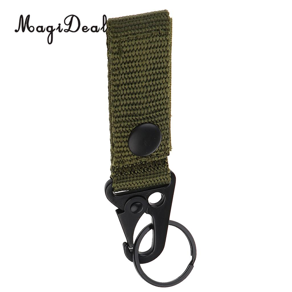 MagiDeal Durable Nylon Tactical Molle Hanging Belt Carabiner Key Hook Webbing Buckle Tool for Outdoor Camping Hiking Hunting Acc