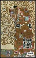 Wholesale klimt oil paintings,100% hand painted tree of life canvas Gustav Klimt painting replicas