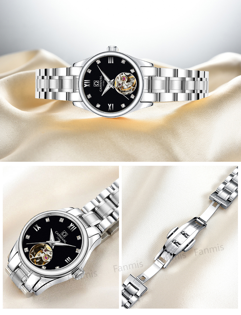Luxury Brand Carnival Women Watches ladies Automatic Mechanical Watch Women Sapphire Waterproof relogio feminino Clock luxury brand carnival women watches ladies automatic mechanical watch women sapphire waterproof relogio feminino clock c8789l 2