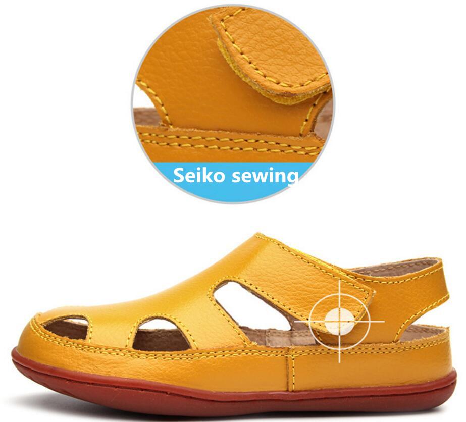Children's leather sandals-20