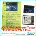 2 in1 ЖК-дисплей и Сенсорный экран Digitizer сенсорный экран тестер доска для iPhone 6 6 plus 4.7 5.5 дюйма, Топ-версия, DHL бесплатно