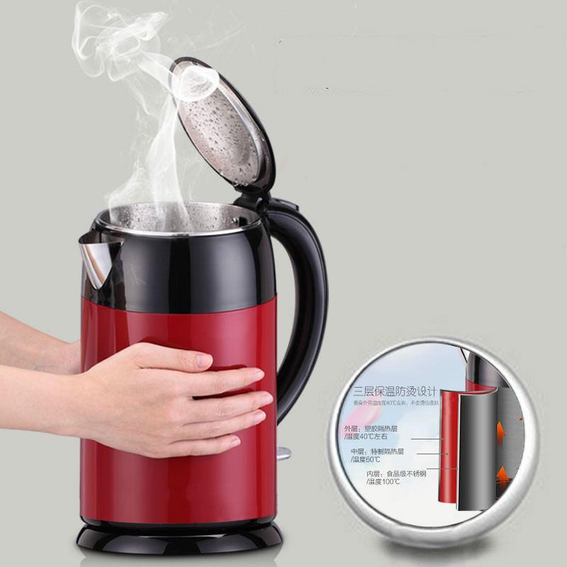 Electric kettle Home 304 stainless steel insulated automatic heat Safety Auto-Off Function цена