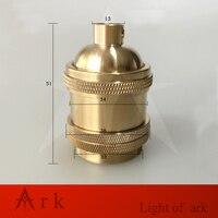 Pure Copper 58mm Long E26 E27 Lamp Holder 2 Ring US Type E27 Socket Chandelier Led