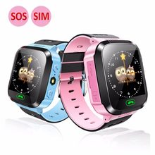 Children smart watch 1.44 color screen touch photography positioning Kids Waterproof Baby With SIM LBS SOS Call child wristwatch(China)