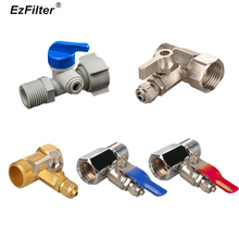 RO Water Faucet Filter Adapter Inlet Metal Brass Ball Valve Switch 1/4