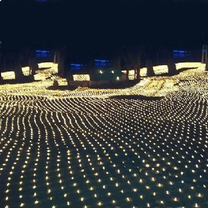 1,5m * 1,5m 3m * 2m 6x4M LED Net Fairy String Light Jul Bröllopsfest Garland Anchor Backgroun Dekorativt ljus
