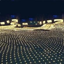 Купить с кэшбэком Free shipping!!! 3x 2m 200-LED 8-models Net String Light Festival Lamp with EU Plug 220V or 110V  for Christmas Wedding Party