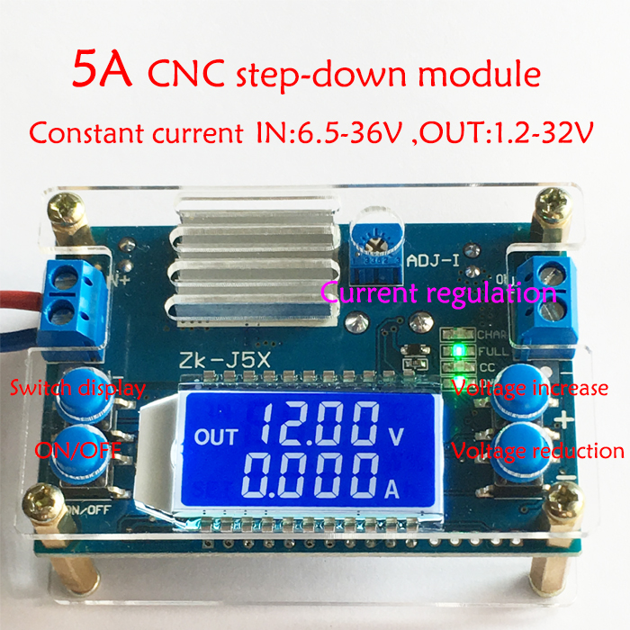 DC-DC Buck Converter CC CV Module 1.2-32V 3.3V 5V 12V 15V 24V 5A Adjustable Regulated power supply digital LCD Voltmeter ammeter image