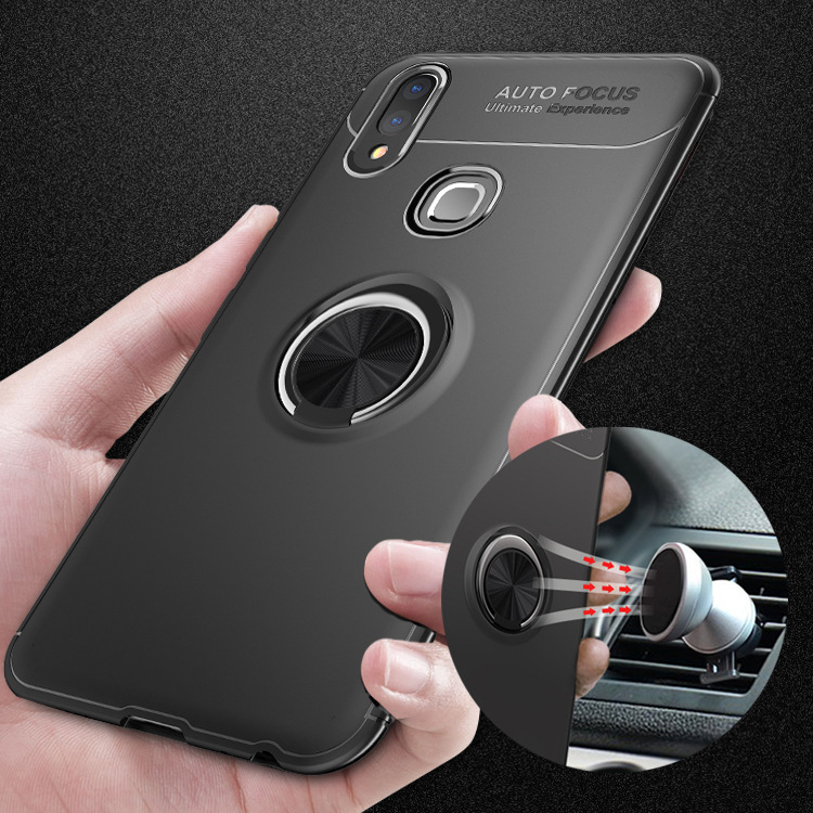 V9 Y85 Magnetic Car Holder Case For Vivo V9 Y85 Cases 360 Rotating Finger Ring Full Phone Cover For Vivo Y85 Y9 Fundas Sheer