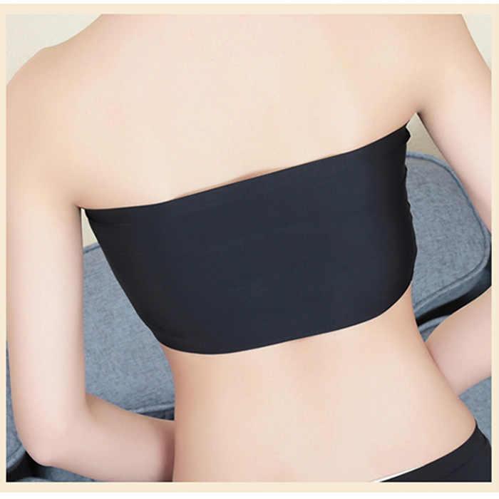 Летний женский Сексуальный Топ без бретелек Черный бандо без рукавов Спортивное нижнее белье обертывание груди TC21