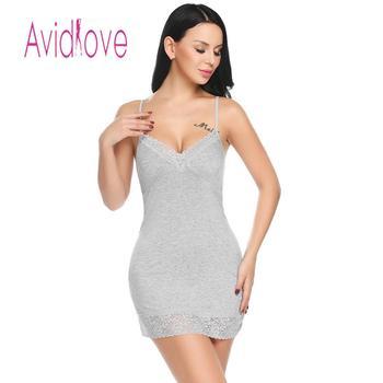ff6ce4366118bb9 Avidlove Женское ночное платье пижамы Ночная сорочка кружевное лоскутное  сексуальное спагетти ремень женское летнее стринги сексуальное