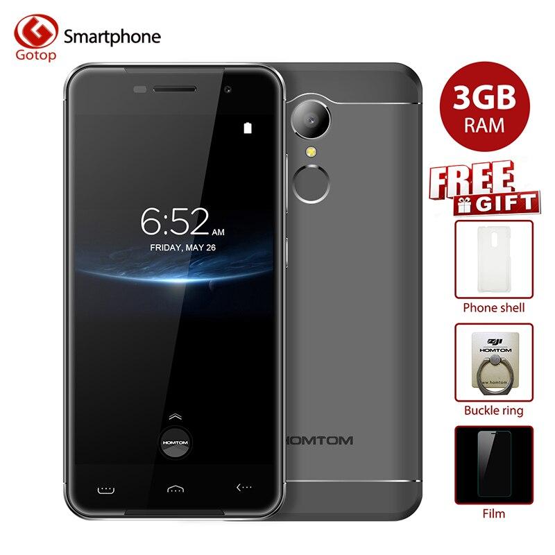 bilder für Original Homtom ht37 Pro MTK6737 Quad-Core-Handy 5,0 zoll Android 7.0 Smartphone 3 GB RAM 32 GB ROM Fingerabdruck Mobilen telefon