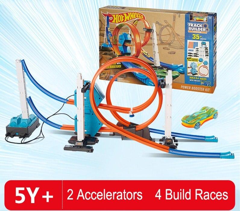 Moulé sous pression BRICOLAGE Jouet Puzzle 3D cadeaux de fête rapide train Piste Roller Coaster Piste Wagon Électrique pour Éducatifs Assemblés Jouets