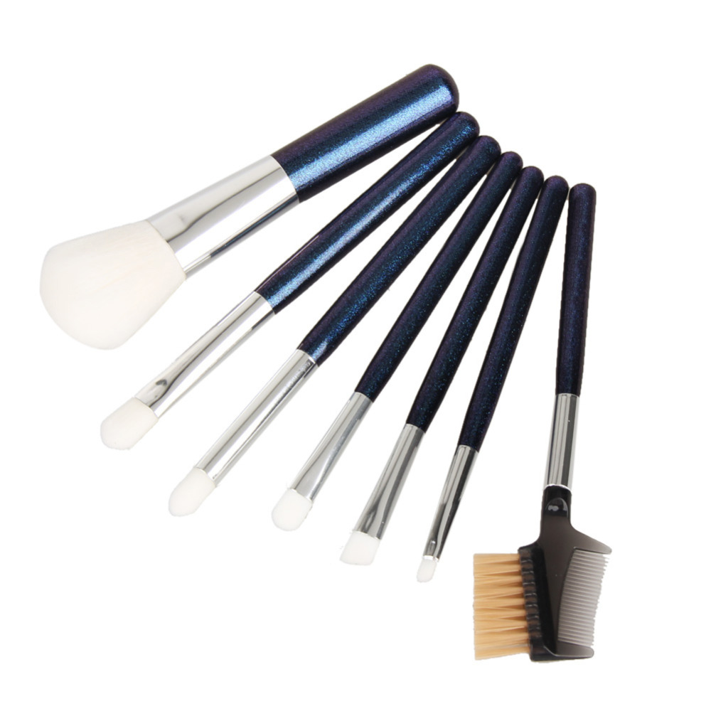 7PCS Makeup Brushes Set Cosmetic Powder Foundation Eyelash Lipstick Brush Pincel Maquiagem Make up Brushes Metal Case Box Holder 8pcs beauty makeup brushes set eyeshadow blending brush powder foundation eyebrow lip cosmetic make up tools pincel maquiagem