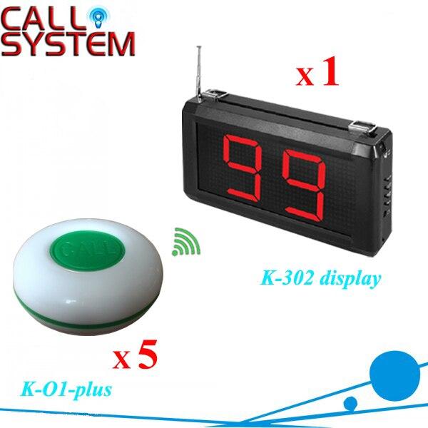 1 ensemble de buzzers à bouton-poussoir électronique 1 contre-moniteur avec anneau de table 5 pièces pour une utilisation client café maison