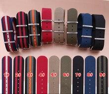 18mm 20mm 22mm 24mm L'OTAN Militaire Nylon Bracelet Bande Plongeurs Acier Inoxydable Boucle Claps bracelet livraison Gratuite