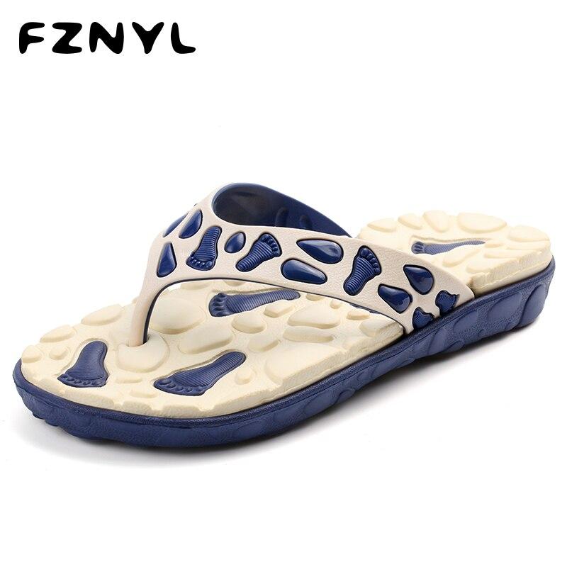 FZNYL Men's Summer Outdoor Foot Massage Slippers Male Beach Sandals EVA Soft Indoor Flip Flops Non-slip Home Bathroom Shoes 2019