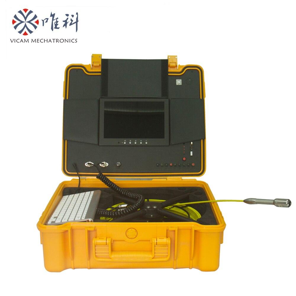 Vicam Nieuwe Analoge HD waterdichte riool video inspectie camera met 23mm camera hoofd, DVR met 720 p video, digitale meter teller-in Beveiligingscamera´s van Veiligheid en bescherming op  Groep 1