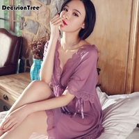 2019 new Women Sexy Lingerie Lace Babydoll Chemise Porno Sex Underwear Dress Transparent Haltter Erotic Lingerie Sexy Costumes