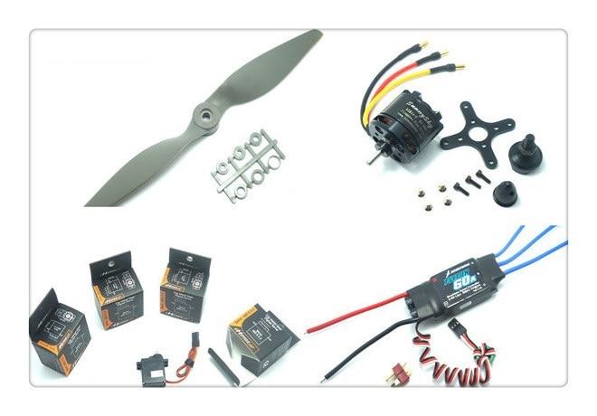 Power Combo for New Skywalker 1680 1880 EPO (Motor ESC Props and Servos kit) SunnySky 2814 kv900 FlyFun 60A 9060 Propeller MD933