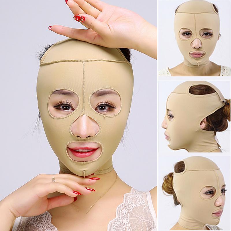 פנים קמטים סנטר כפול פנים יופי כלי פנים דק פנים מסכת הרזיה תחבושת טיפוח עור פנים מסכת להסיר