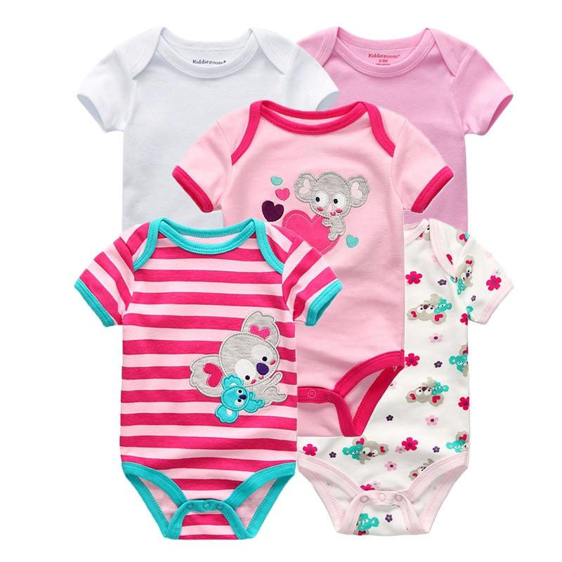Kiddiezoom детские комбинезоны пижамы для маленьких девочек Дети Bebe Infantil одежда для новорожденных одежда из хлопка Одежда для маленьких мальчиков, Товары для детей - Цвет: baby girls 5992