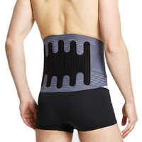 Udoarts Back Support Belt Lumbar Brace Back Brace Waist Support With Removable Double Pull Strap, Pads And Steel Splints