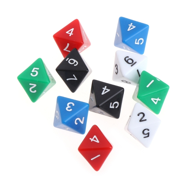 OOTDTY 10 pcs 8 Face Placa Jogo DND Dungeons & Dragons Dice Número Acrílico Acessórios Multi Cortam Lados