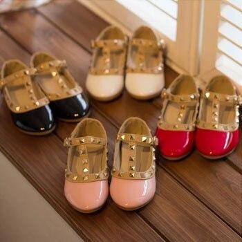 New 2015 Girls Princess Summer Rivet Flats Sandals Casual Children ...