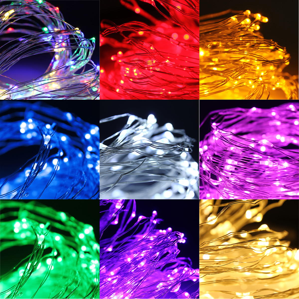 2M 180 LED Mini LED Copper Wire Fairy String Light For Garland Bedroom Party Wedding Decoration Waterproof Fathers Day