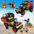 Policía enlighten educativos bloques de construcción de juguetes para los niños regalos cars compatible con legoe