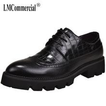 New British Bullock High Quality Genuine Leather Shoes Men,Lace-Up Business Men Shoes,Men Dress Shoes casual men wedding shoes недорого