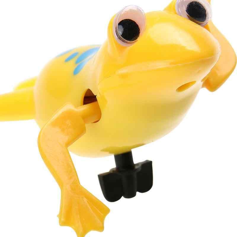 Baby Bath ของเล่นแบตเตอรี่ดำเนินการ Clockwork Dabbling กบสระว่ายน้ำของเล่นน่ารักของเล่น Wind - Up กบของเล่นเด็กสำหรับของขวัญเด็ก