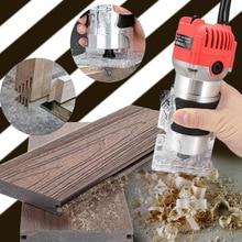 800 Вт 30000 об/мин деревообрабатывающий электрический триммер фрезерование древесины гравировальный долбежный обрезной станок ручная машинка для резки дерева маршрутизатор