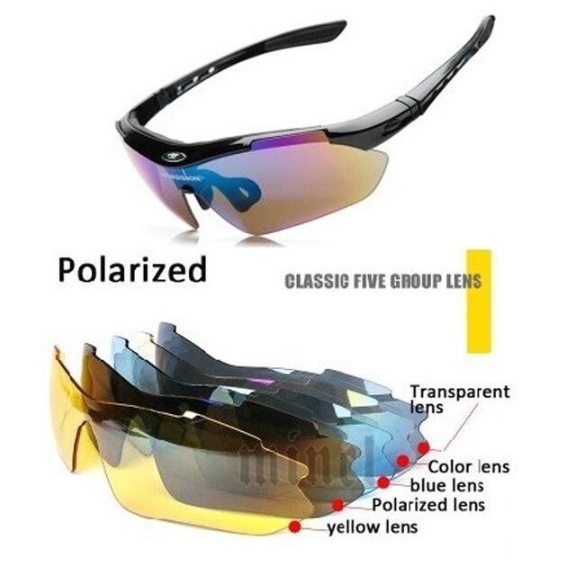 2016 Мода Спорт Очки Солнцезащитные Очки Мужчины Женщины Открытый Gafas De Sol Вождения UV400 Спорт Ветрозащитный Солнцезащитные Очки 5 Линзы