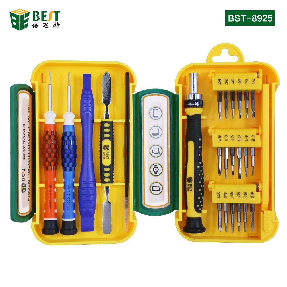 BEST-8925 Multifunction DIY Precision Screwdriver Set 21 in 1 Repair Tools Kit for iPhone HTC Smart Phone