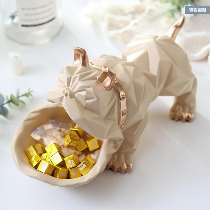 Wshyufei Nordic Lucky Dog Storage Box Animal Decorations Coffee