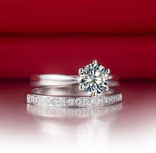 0 6ct Korean Fine Jewelry Semi Mount Sona Fine Diamond Ring For