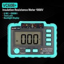 VC60B+ 1000 в 1999 отсчетов цифровой автоматический диапазон сопротивления изоляции метр тестер Мегаомметр светодиодный индикатор высокого напряжения
