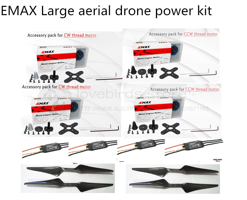 все цены на Original EMAX Large aerial drone power kit MT4114 340KV motor + FOC 25A ESC opto for DIY quadcopter /S1000 octocopter онлайн