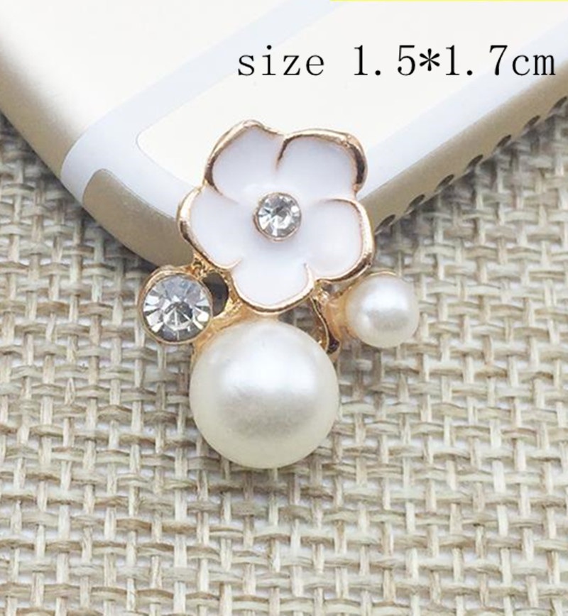 Fancy rhinestone brooch with pearls adorned DIY hair accessories brooch pin  fashion jewelry accessories 12pcs lot MYQB042 bfcb97ab36f8