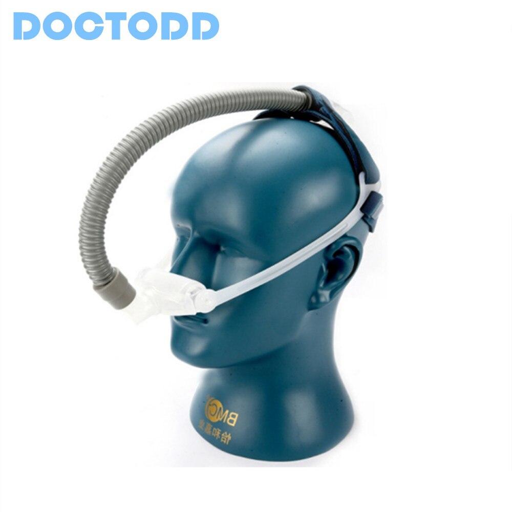Doctodd Nasale Oreillers CPAP Auto CPAP BiPAP Masque pour L'apnée Du Sommeil SAHOS SAOS Ronflement Personnes Avec Coiffe Taille S M L Anti Ronflement