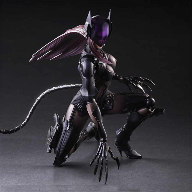Play Arts PA DC Super Hero фигурка Женщина-кошка Бэтмен серия Селина Кайл игрушка кукла 25 см