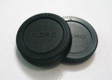 10 pares câmera tampa Do Corpo + Lente Rear Cap para Micro M4/3 m43 Olympus Panasonic GF1/GF2 /GF3 com número de rastreamento