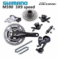 Shimano DEORE M590 система переключения передач с Alivio M430 шатуны 3X9 27 s список групп переключатели