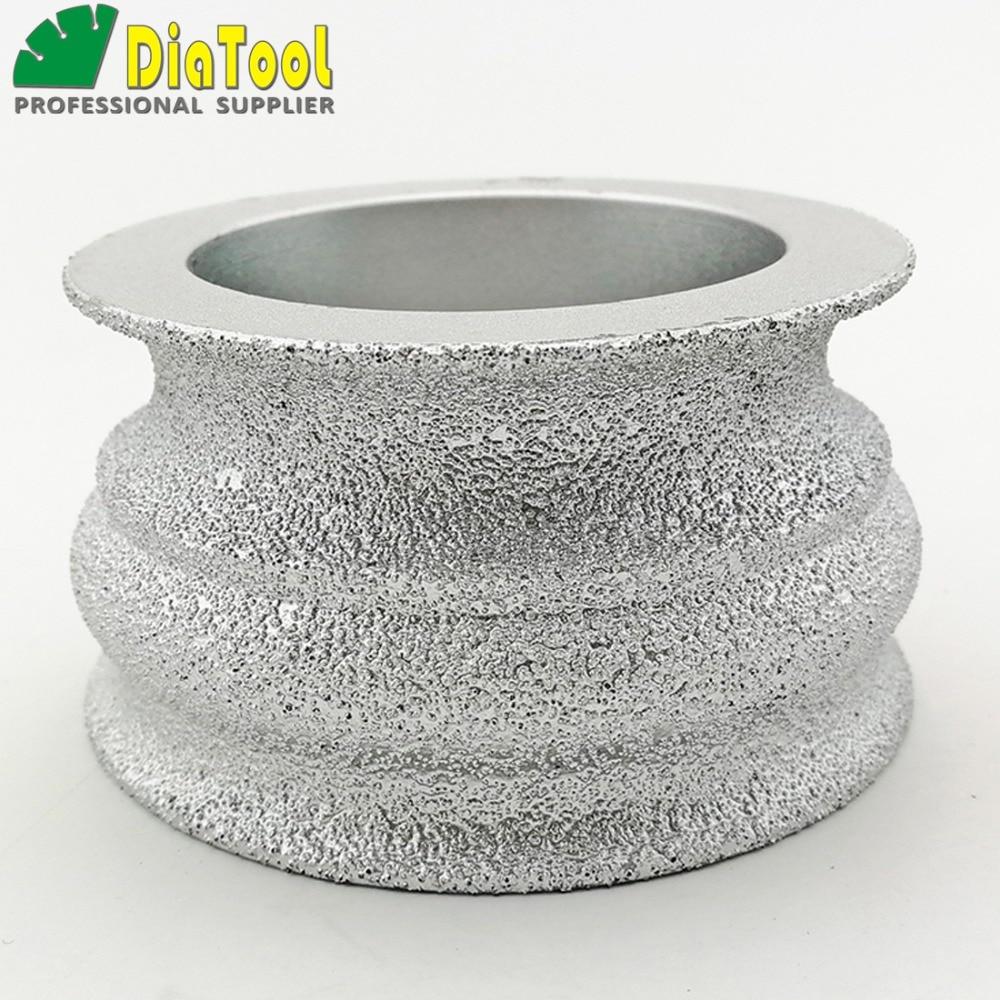 цена на DIATOOL 75mmx40MM Vacuum Brazed Diamond grinding wheel for marble granite and quartz Hand Profile wheel for angle grinder