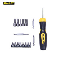 Stanley 23 in 1 multi functional ratchet screwdrivers set with storage utility bit holder multi angle ratcheting screwdriver
