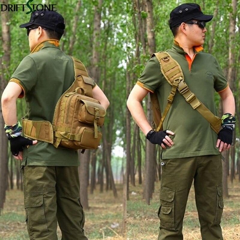 Sac de poitrine simple d'épaule de Sport en plein air escalade sac tactique en Nylon Camping sac à dos militaire sacs d'armée - 6