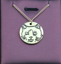 Ожерелье ручной работы с мультяшным Ретро котом подвеска в виде