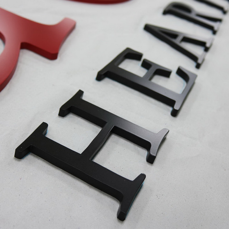 3D durable 316 stainless steel fabricate metal letter shop front sign
